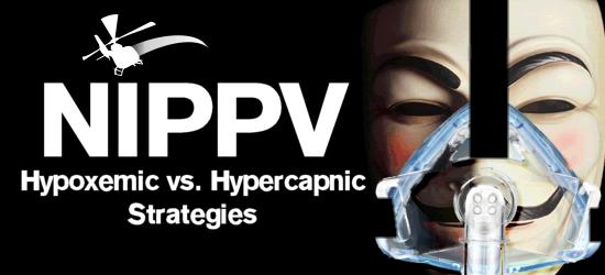NIPPV Hypoxemic vs Hypercapnic Strategies