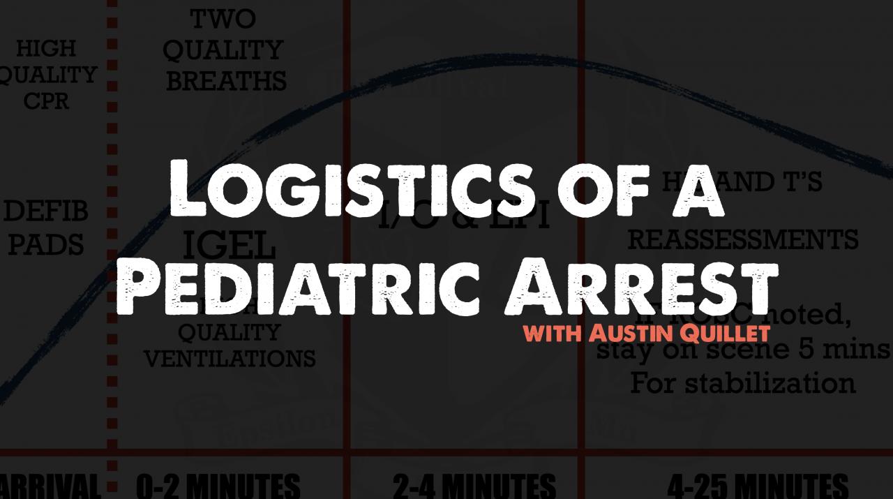 Podcast 105: Logistics of a pediatric arrest w/ Austin Quillet